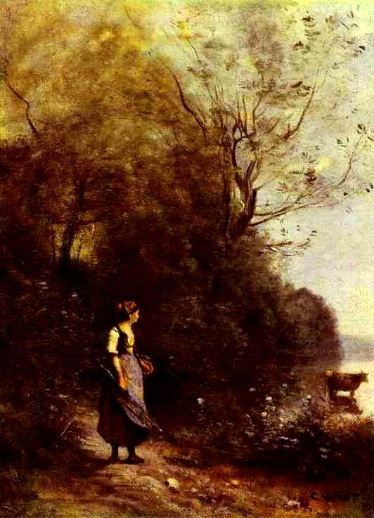 코로의 작품에서는 시와 음악이 흘러나옵니다.