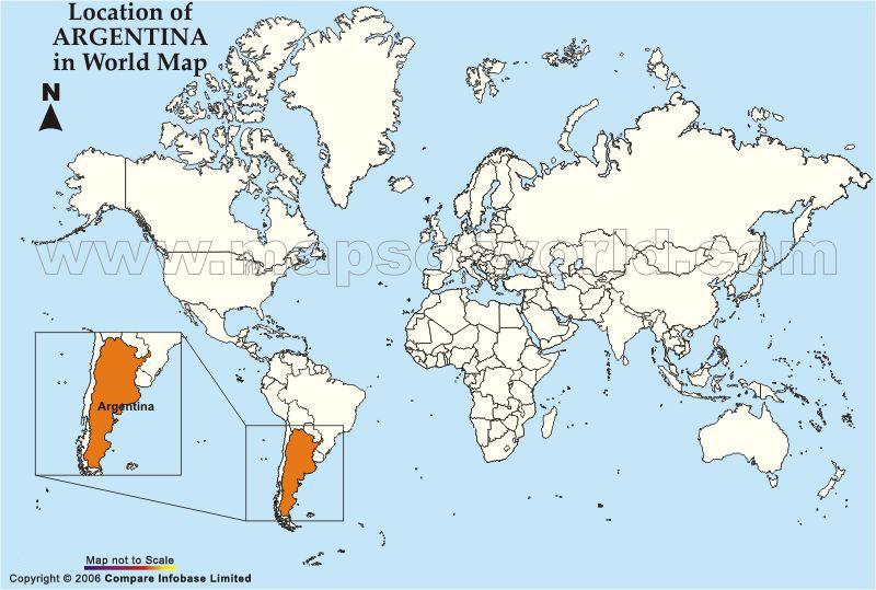 Argentina World Map Location
